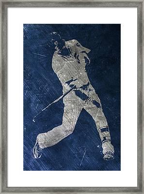 Kris Bryant Chicago Cubs Art Framed Print by Joe Hamilton