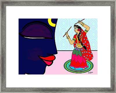Krishnadasi Framed Print by Pratyasha Nithin