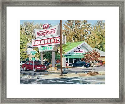 Krispy Kreme At Daytime Framed Print by Tommy Midyette