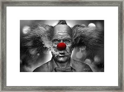Krusty The Clown Framed Print by Alex Ruiz