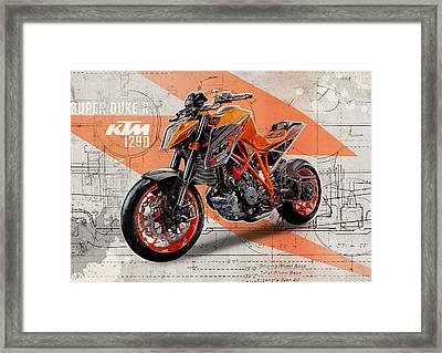 Ktm 1290 Super Duke R Framed Print by Yurdaer Bes
