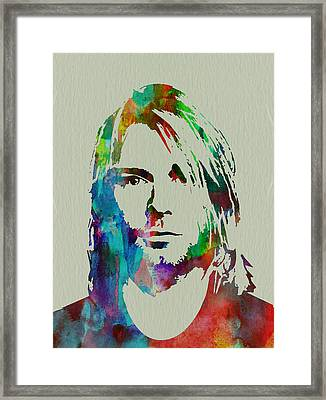 Kurt Cobain Nirvana Framed Print by Naxart Studio
