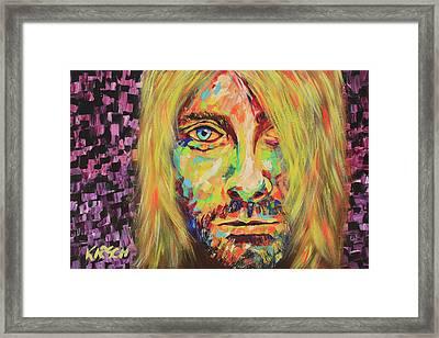Kurt Cobain Framed Print by Robert Kirsch