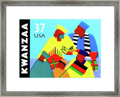 Kwanzaa Holiday  Framed Print by Lanjee Chee
