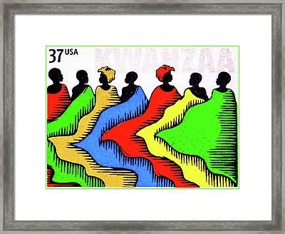 Kwanzaa Framed Print by Lanjee Chee