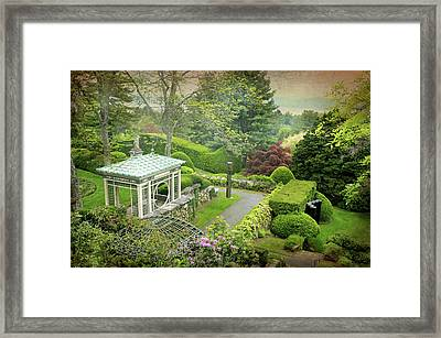 Kykuit Garden Framed Print by Diana Angstadt