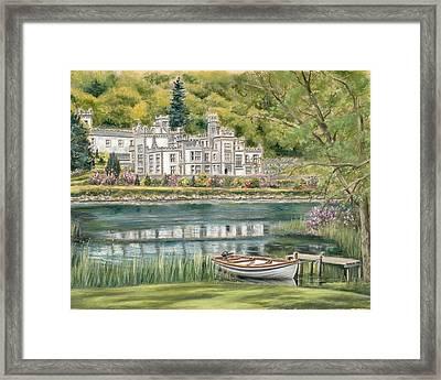 Kylemore Abbey Connemara Galway Framed Print by Vanda Luddy