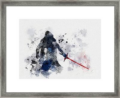 Kylo Ren Framed Print by Rebecca Jenkins