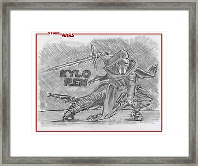 Kylo Ren The Force Awakens Framed Print by Chris DelVecchio