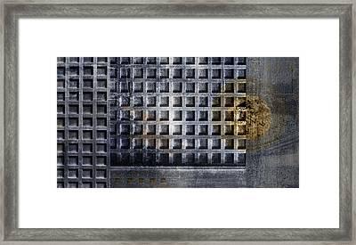Kyoto Doorways In Blue Series 1 Framed Print by Carol Leigh