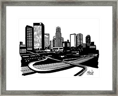 L. A. Framed Print by Andrew Cravello