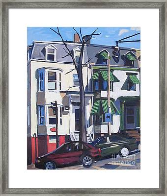 L And Broadway Framed Print by Deb Putnam