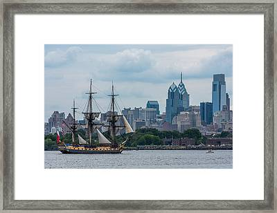 L Hermione Philadelphia Skyline Framed Print by Terry DeLuco