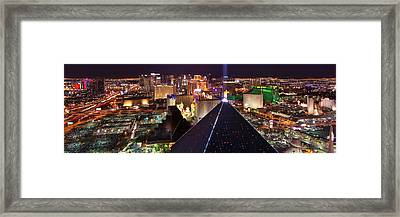 Vegas Lights Framed Print by Mikes Nature