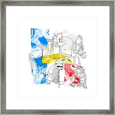 La Bande Du Jazz Framed Print by Sean Hagan
