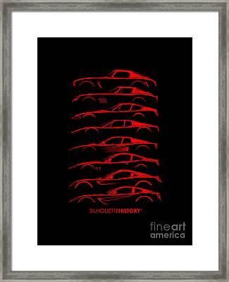 La Bella Berlinetta Silhouettehistory Framed Print by Gabor Vida