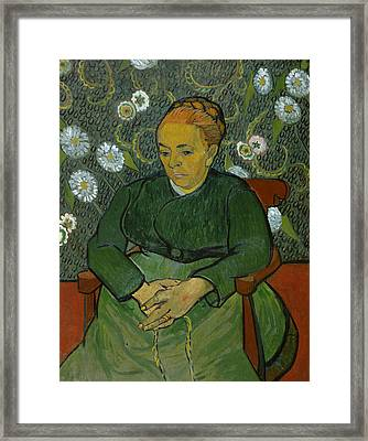 La Berceuse Portrait Of Madame Roulin Framed Print by Vincent van Gogh