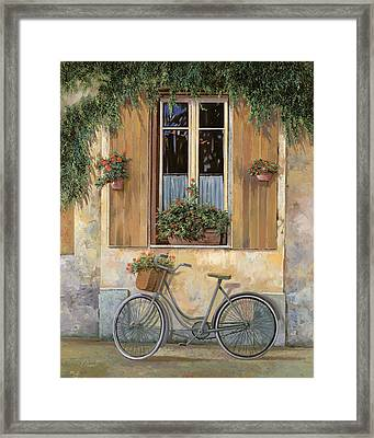La Bici Framed Print by Guido Borelli