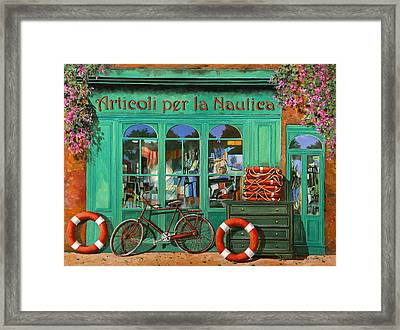 La Bicicletta Rossa Framed Print by Guido Borelli