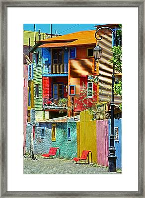 La Boca - Buenos Aires Framed Print by Juergen Weiss