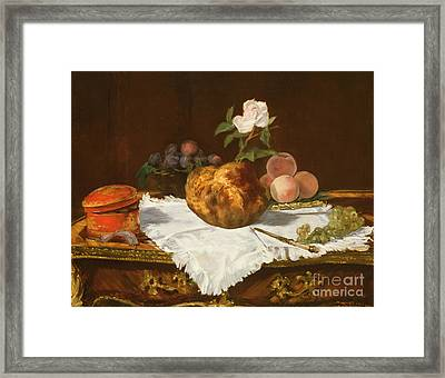 La Brioche Framed Print by Edouard Manet