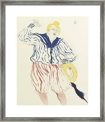La Chanson Du Matelot, Au Star, Le Havre Framed Print by Henri de Toulouse-Lautrec