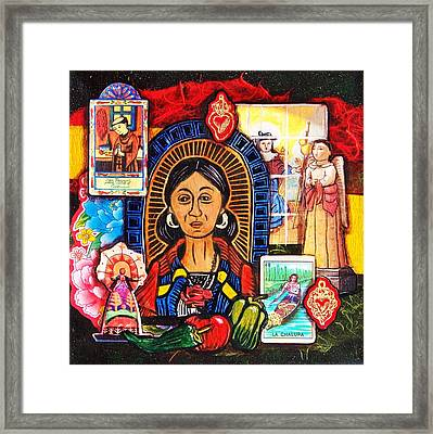 La Cocinera In Red Framed Print by Candy Mayer