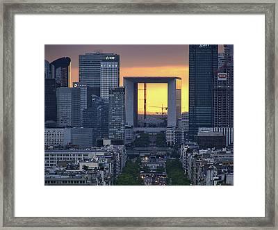 La Defense - La Grande Arche - Paris Framed Print by Nikolyn McDonald