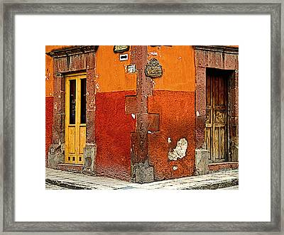 La Esquina 2 Framed Print by Mexicolors Art Photography