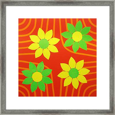 La Flor De La Vida Framed Print by Oliver Johnston
