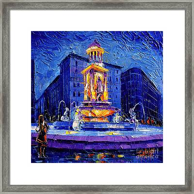 La Fontaine Des Jacobins Framed Print by Mona Edulesco