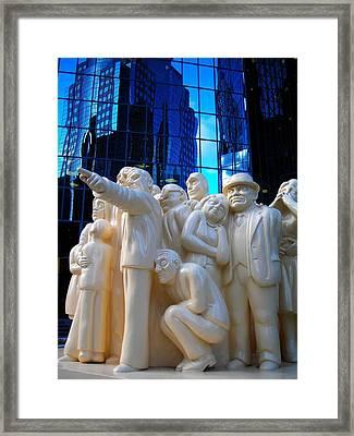 La Foule Illuminee Framed Print by Juergen Weiss