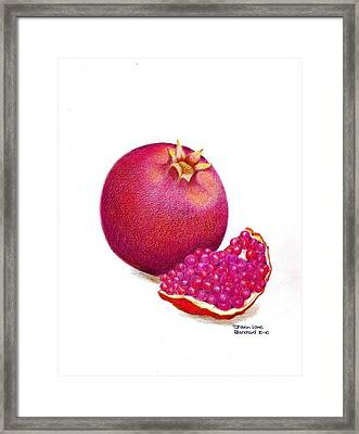 La Grenade Framed Print by Sharon Blanchard