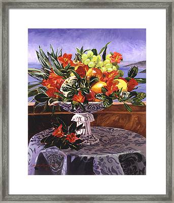 La Jolla Christmas Framed Print by David Lloyd Glover