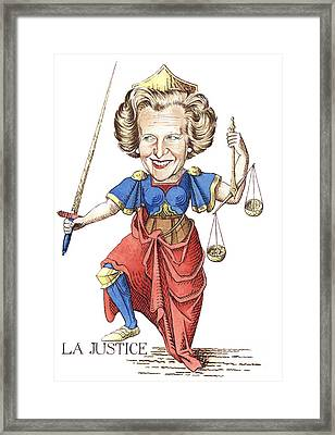La Justice Framed Print by Debbie  Diamond