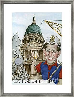 La Maison De Dieu Framed Print by Debbie  Diamond