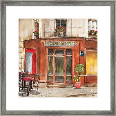 La Maison De Soupe Framed Print by Debbie DeWitt