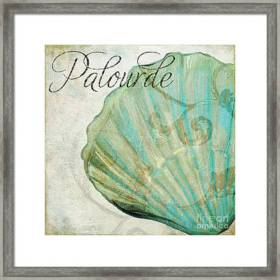 La Mer II Clam Shell Framed Print by Mindy Sommers