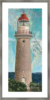 La Mer Lighthouse Framed Print by Debbie DeWitt