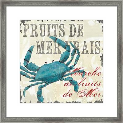 La Mer Shellfish 1 Framed Print by Debbie DeWitt