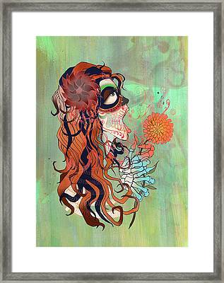 La Muerte Framed Print by Kate Collins