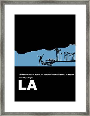La Night Poster Framed Print by Naxart Studio