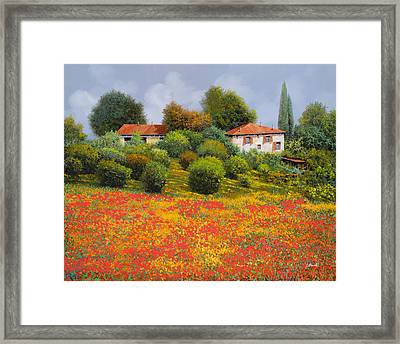 La Nuova Estate Framed Print by Guido Borelli