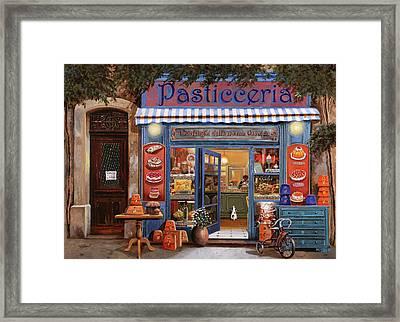 La Pasticceria Framed Print by Guido Borelli