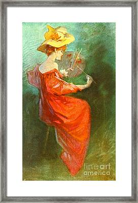 La Peinture 1900 Framed Print by Padre Art