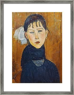 La Petite Marie Framed Print by Amedeo Modigliani