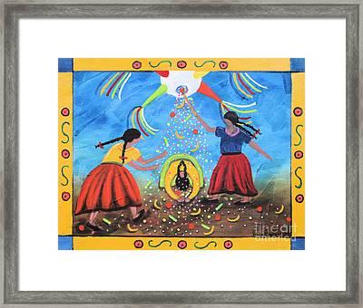 La Pinata Framed Print by Sonia Flores Ruiz