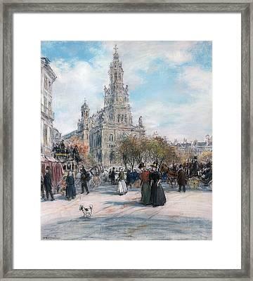 La Place De Trinite Framed Print by Jean Francois Raffaelli