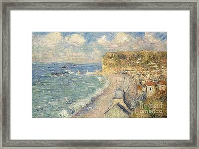 La Plage De Fecamp Framed Print by MotionAge Designs