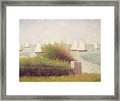 La Rade De Grandcamp Framed Print by Georges Pierre Seurat